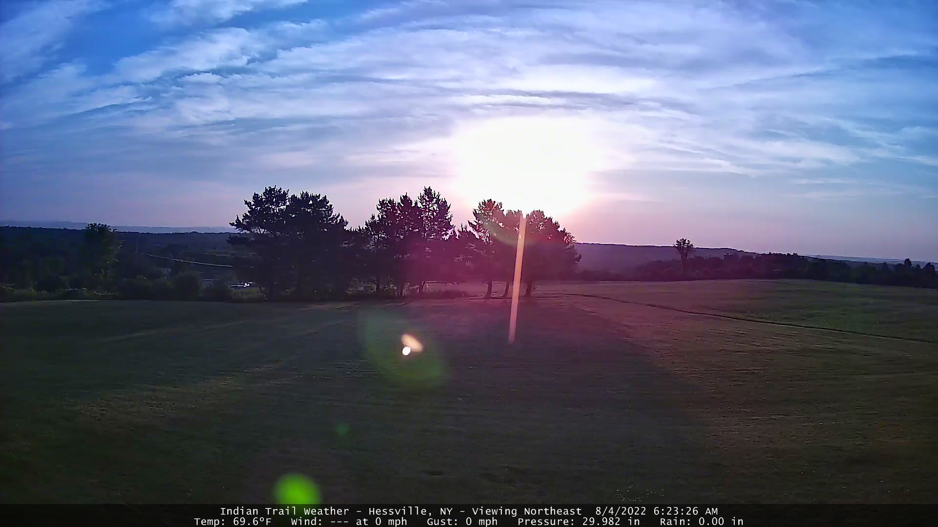 Indian Trail Weather Webcam - Viewing Driveway